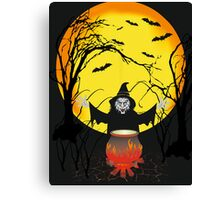 witch in forest Canvas Print