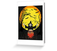 witch in forest Greeting Card