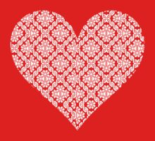 Ukrainian cross stitch heart dark by blueyell