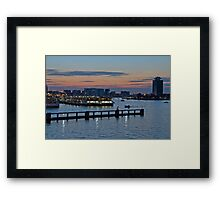 Amsterdam Harbour Framed Print