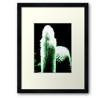 Little Green Cactus VRS2 Framed Print