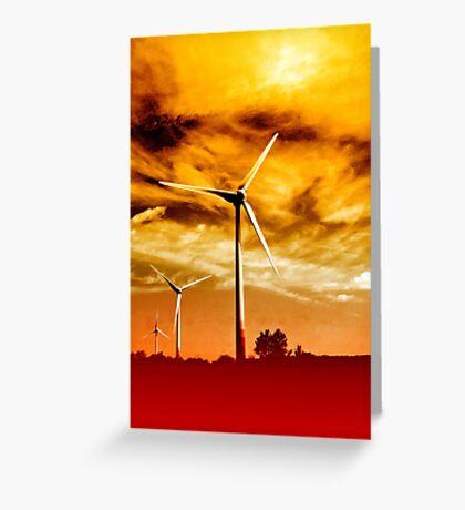 Wind Park Mills VRS2 Greeting Card