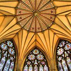Vaulted Ceiling -The Chapter House - York Minster - HDR by Colin J Williams Photography
