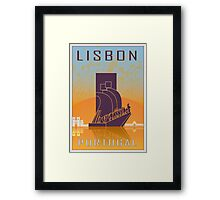 Lisbon vintage poster Framed Print