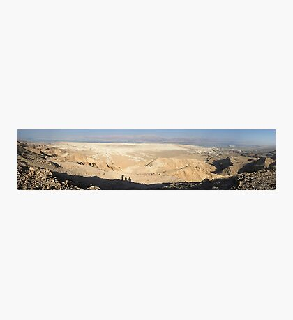 Desert landscape overlooking the Dead Sea Photographic Print