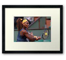 Serena Williams Framed Print