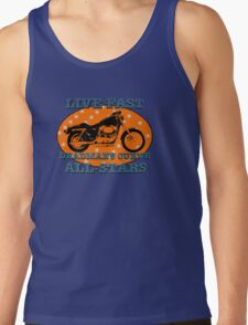 Live Fast Deadmans Curve All Stars Motorcycle Tank Top