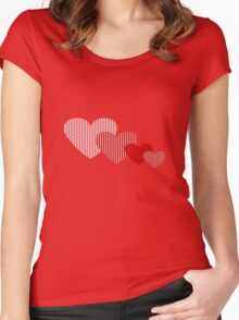 Patchwork Hearts Women's Fitted Scoop T-Shirt