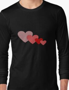 Patchwork Hearts Long Sleeve T-Shirt