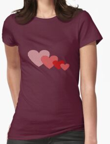 Patchwork Hearts Womens Fitted T-Shirt