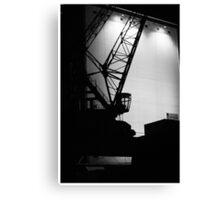Nachts im Stuttgarter Hafen Canvas Print