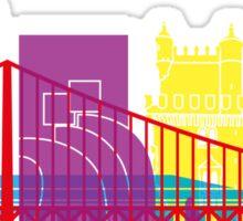 Lisbon skyline pop Sticker