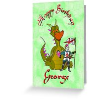 George - Happy Birthday card Greeting Card