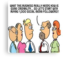 Business credibility Canvas Print