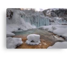 Plitvice in winter Canvas Print