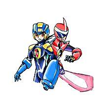 Megaman & Protoman Photographic Print