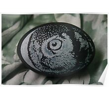 Northern Hawk Owl Emu Egg Poster