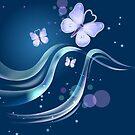 Aqua Blue Beautiful & Lovely Butterflies by scottorz