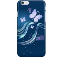 Aqua Blue Beautiful & Lovely Butterflies iPhone Case/Skin