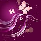 Ruby pink Beautiful & Lovely Butterflies by scottorz