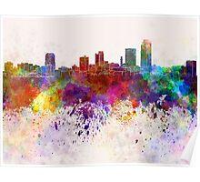 Little Rock skyline in watercolor background Poster