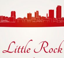 Little Rock skyline in red Sticker