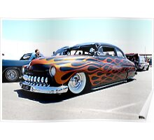 The Flaming Muscle Car Poster