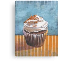 Summertime Yellow Cupcake Canvas Print