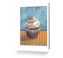 Summertime Yellow Cupcake Greeting Card