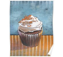 Summertime Yellow Cupcake Poster
