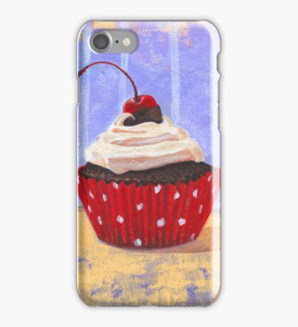 Red Cherry Cupcake iPhone Case/Skin