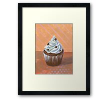 Chocolate Stars Cupcake Framed Print