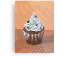 Chocolate Stars Cupcake Metal Print