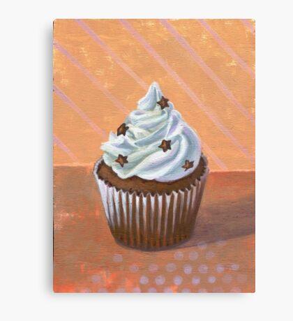Chocolate Stars Cupcake Canvas Print