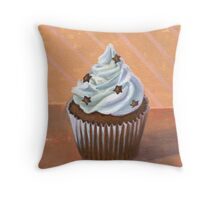 Chocolate Stars Cupcake Throw Pillow