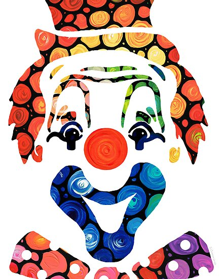 ... Cummings › Portfolio › Clownin Around - Funny Circus Clown Art