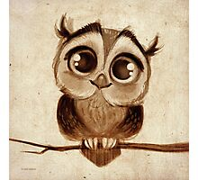 Doodles by David Kawena - Owl  Photographic Print