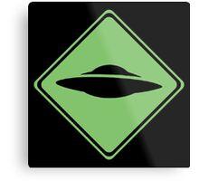 X-Files - UFO Metal Print