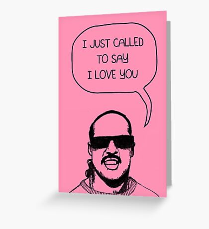 Stevie Wonderful 'Love You' Card Greeting Card