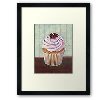 Champagne Chic Cupcake Framed Print