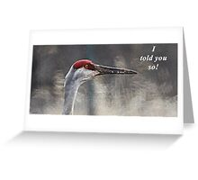 I told you so! Greeting Card