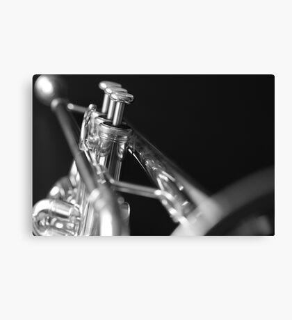 Trumpet 1 b&w Canvas Print