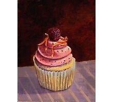 Purple Raspberry Cupcake Photographic Print