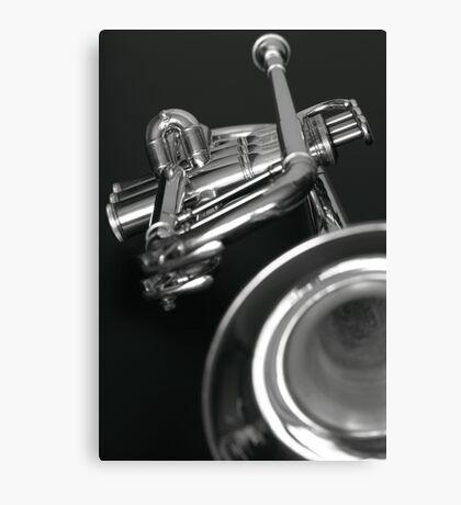 Trumpet 2 b&w Canvas Print