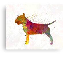 Bull Terrier in watercolor Metal Print