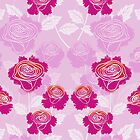 Beautiful Flowers with Elegant Pink Background  by scottorz