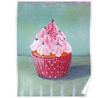Pink Mountain Cupcake Poster