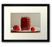 canned tomatoes Framed Print