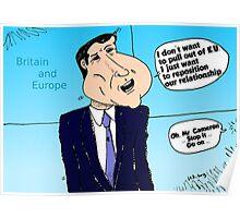 David Cameron caricature Poster