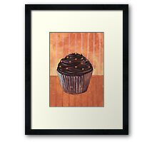 Chocolate Monster Cupcake Framed Print